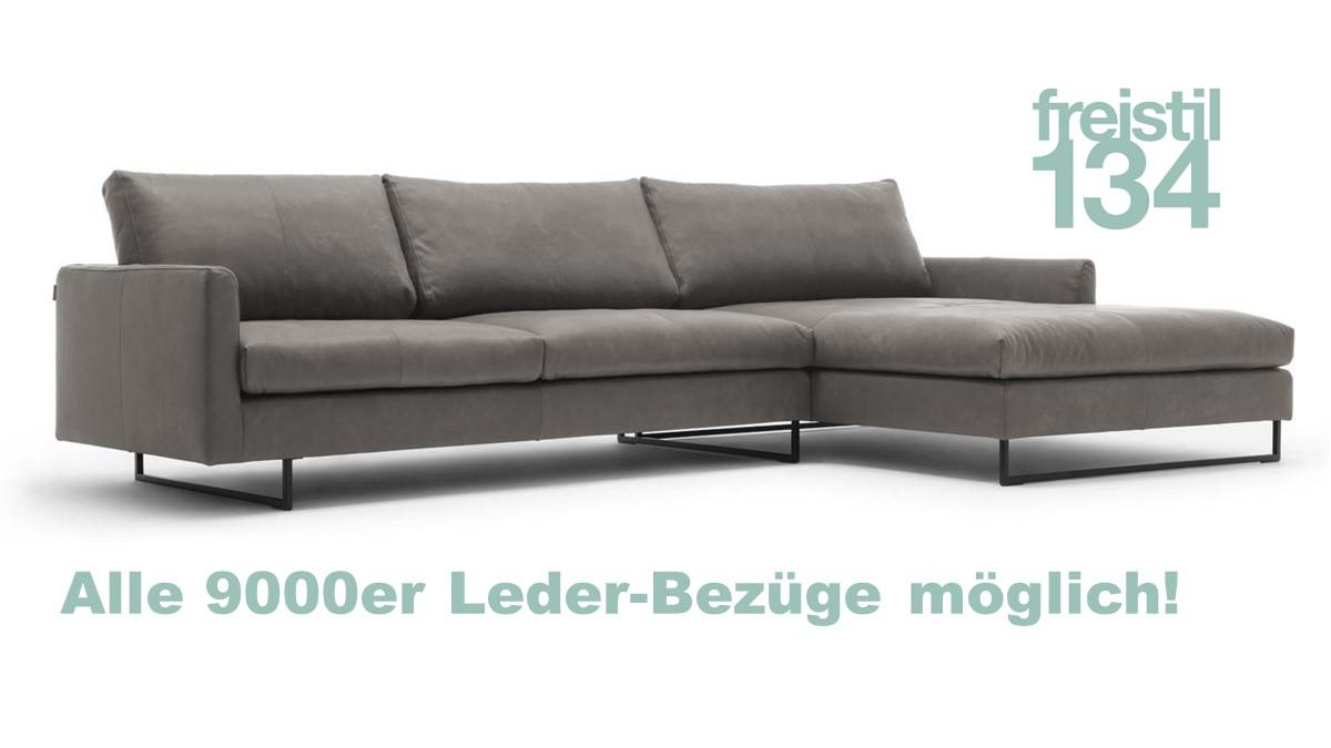 freistil 134 Sofa mit Longchair rechts jetzt im 9000er Leder konfigurieren