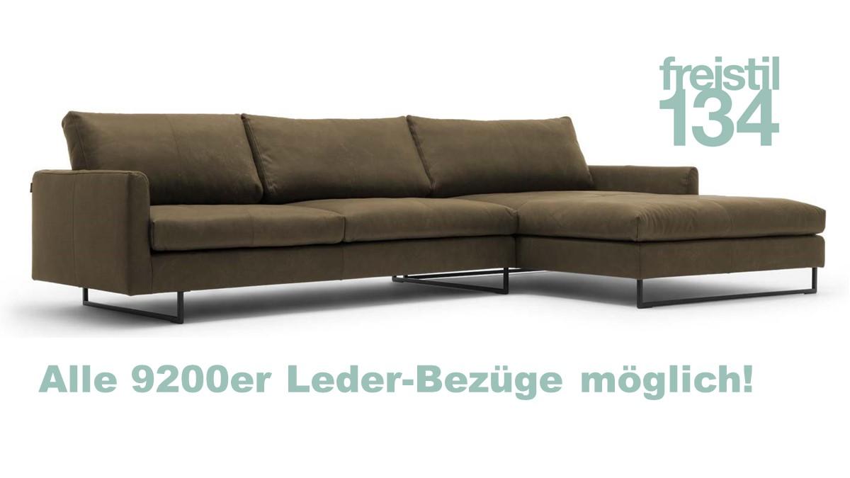 freistil 134 Sofa mit Longchair rechts jetzt im 9200er Leder konfigurieren
