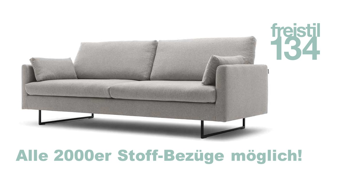 freistil 134 Sofabank in der Breite 222 cm in allen 2000er Stoffen