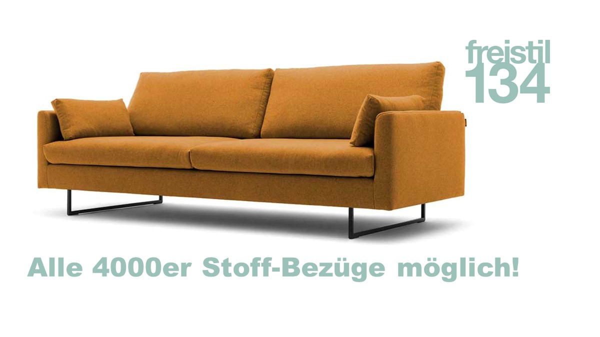 freistil 134 Sofabank in der Breite 222 cm in allen 4000er Stoffen