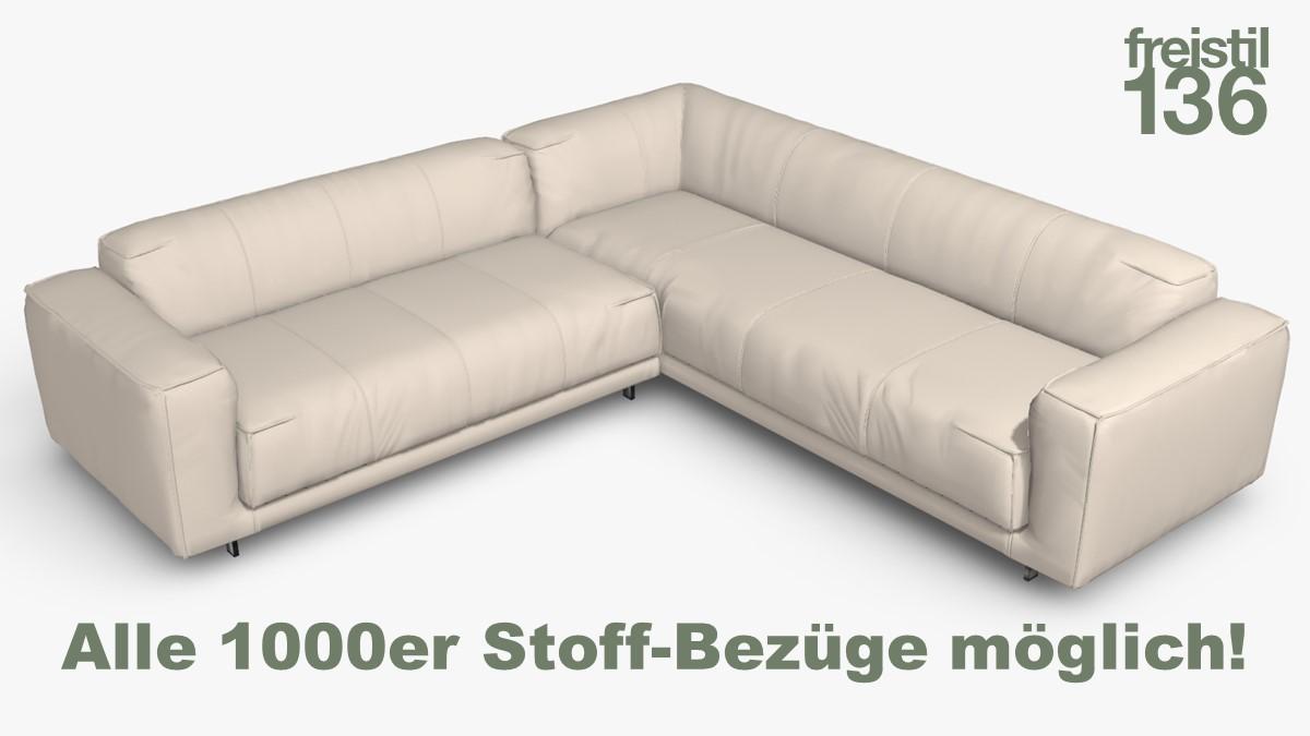 freistil 136 Eck-Sofa Alle 1000er Stoff-Bezüge möglich