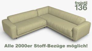 freistil 136 Eck-Sofa Alle 2000er Stoff-Bezüge möglich