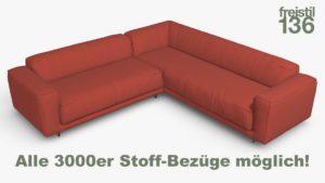freistil 136 Eck-Sofa Alle 3000er Stoff-Bezüge möglich