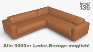 freistil 136 Eck-Sofa Alle 9000er Leder-Bezüge möglich