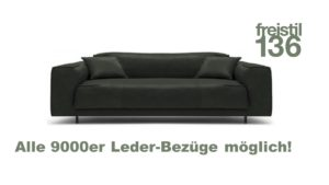 freistil 136 ROLF BENZ Sofabank im 9000er Leder konfigurieren.
