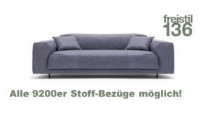 freistil 136 ROLF BENZ Sofabank im 9200er Leder konfigurieren.