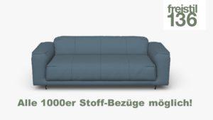 freistil 136 Sofabank, 203 cm in allen 1000er Stoff-Bezügen konfigurierbar.