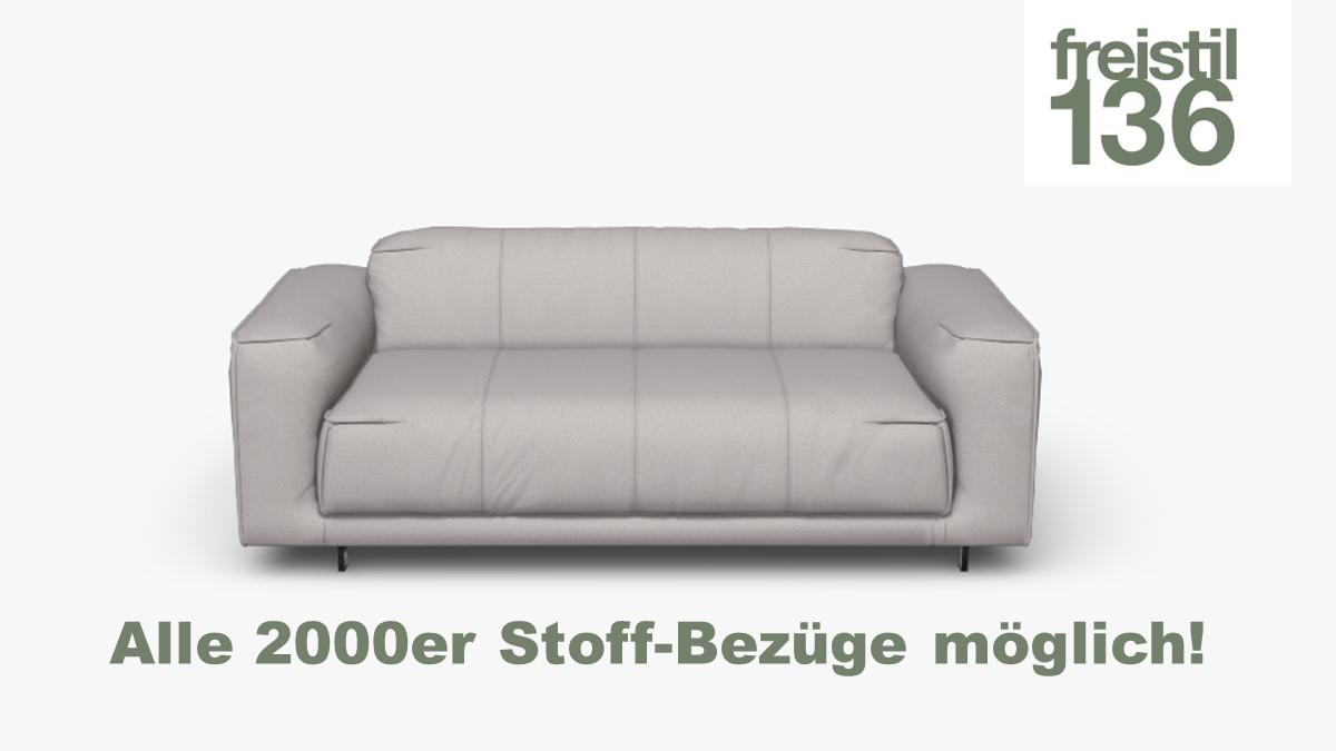 freistil 136 Sofabank 3-sitzig in allen 2000er Stoffen konfigurierbar