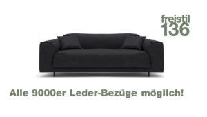 freistil 136 Sofabank 4-sitzig in der Breite 203 cm - In allen 9000er Leder-Bezügen