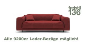freistil 136 Sofabank 4-sitzig in der Breite 203 cm - In allen 9200er Leder-Bezügen