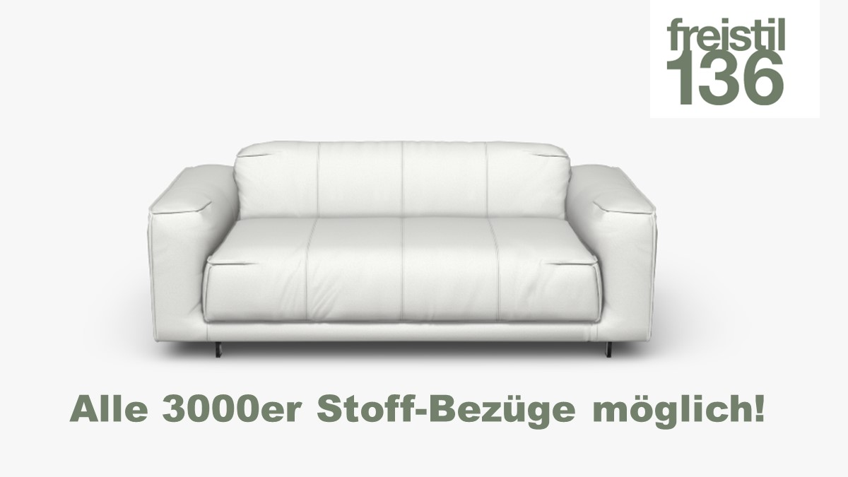 freistil 136 Sofabank, Breite 183 cm - Alle 3000er Stoffe möglich