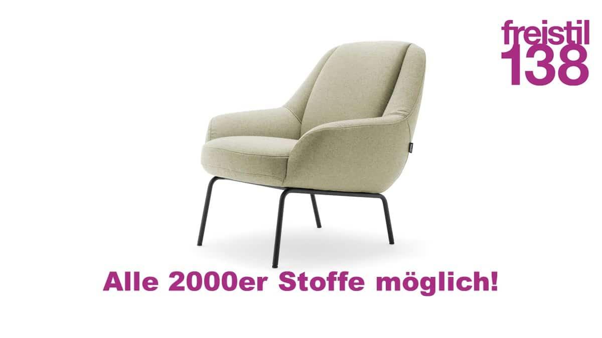 freistil 138 Maske Sessel jetzt in allen 2000er Stoffen konfigurierbar
