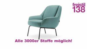 freistil 138 Sessel in allen 3000er Stoffen konfigurierbar