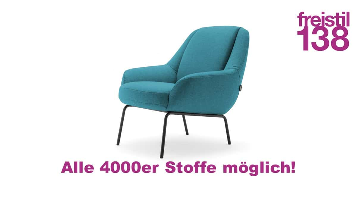 freistil138 Sessel in allen 4000er Stoffen erhältlich