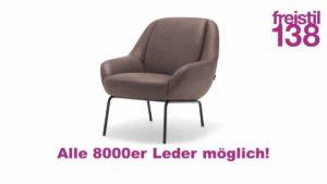 freistil 138 Sessel in allen 8000er Ledern der freistil Kollektion