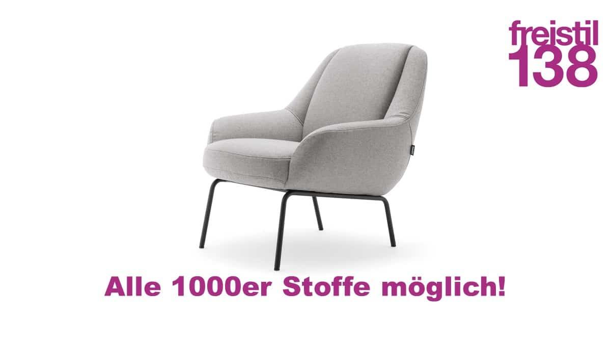 freistil 138 Sessel jetzt in allen 1000er Stoffen konfigurierbar