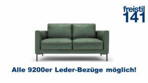 freistil 141 Sofabank - Alle 9200er Leder-Bezüge erhältlich