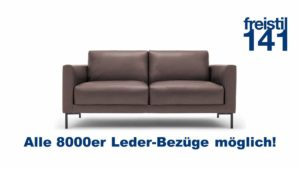 freistil 141 Sofabank im 8000er Leder