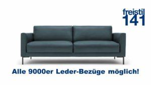 freistil 141 Sofabank im 9000er Leder-Bezug