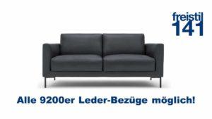 freistil 141 Sofabank in allen 9200 Leder-Bezügen erhältlich