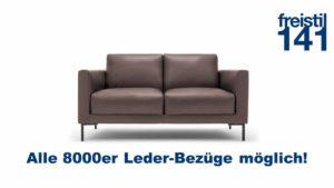 freistil 141 Sofabank in der Breite 154 cm in allen 8000er Ledern möglich