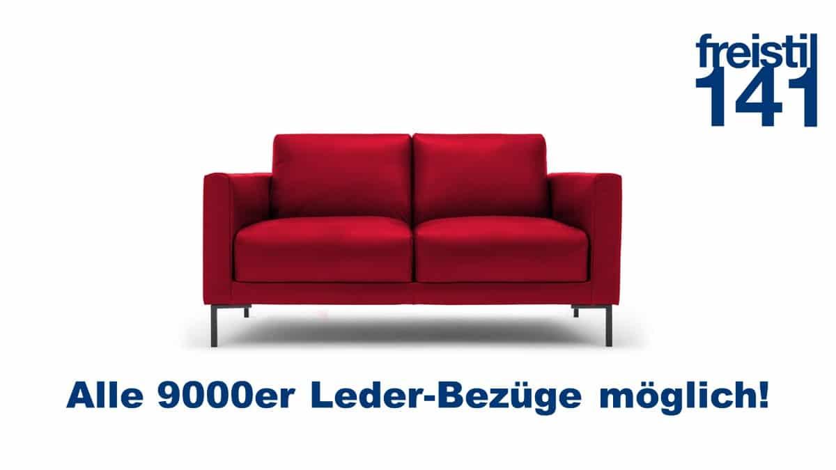freistil 141 Sofabank in der Breite 154 cm in allen 9000er Leder-Bezügen erhältlich