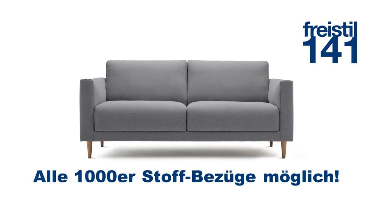 freistil 141 Sofabank in der Breite 174 cm in allen 1000er Stoffen konfigurierbar