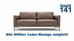 freistil 141 Sofabank in der Breite 194 cm, in allen 8000er Ledern