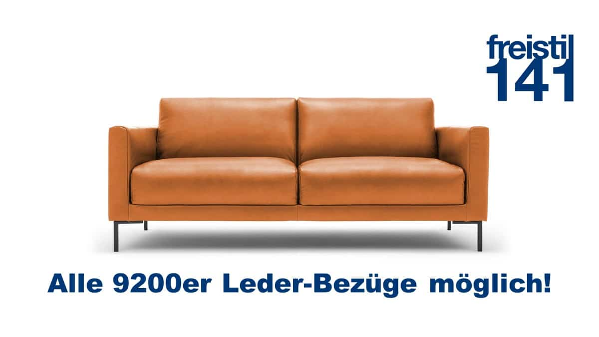 freistil 141 Sofabank in der Breite 194 cm in allen 9200er Leder-Bezügen erhältlich