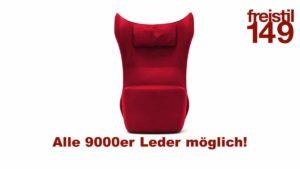 freistil 149 Leder-Sessel im 9000er Leder konfigurierbar