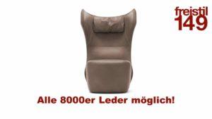 freistil 149 Sessel in allen 8000er Ledern konfigurierbar