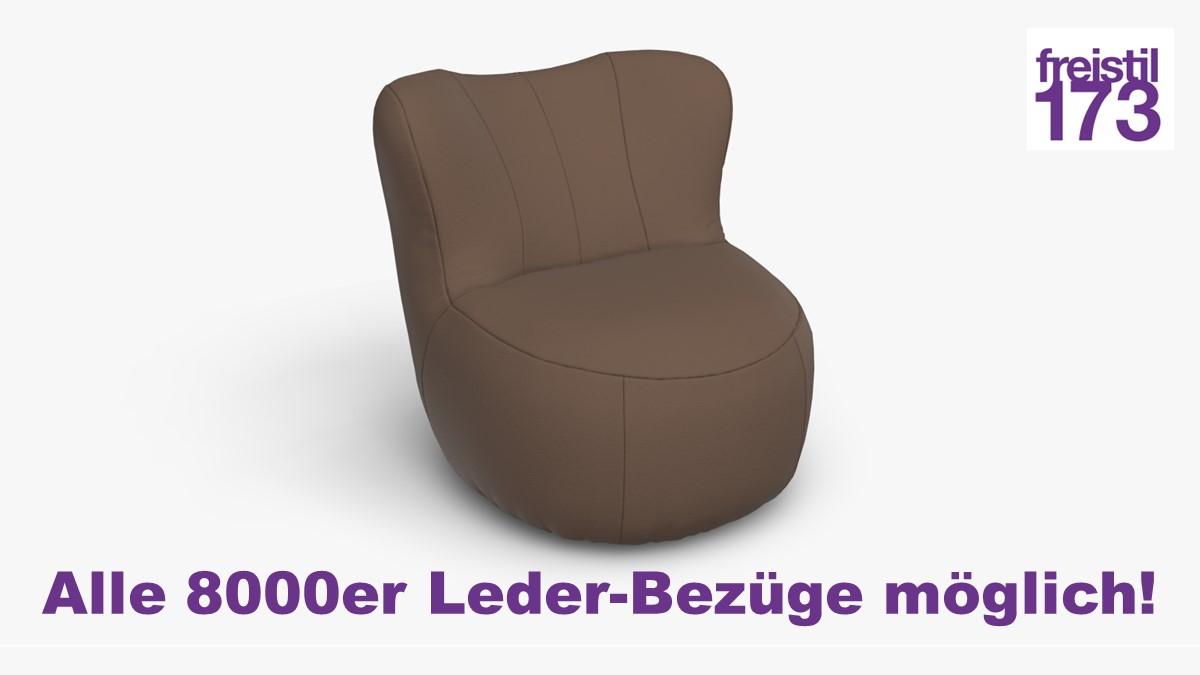freistil 173 Sessel Alle 8000er Leder-Bezüge möglich