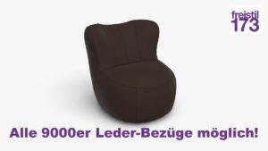 freistil 173 Sessel Alle 9000er Leder-Bezüge möglich