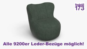 freistil 173 Sessel Alle 9200er Leder-Bezüge möglich