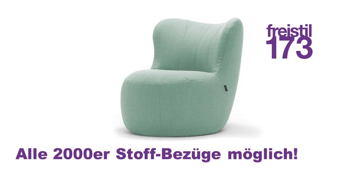 freistil 173 Sessel in allen 2000er Stoff-Bezügen möglich