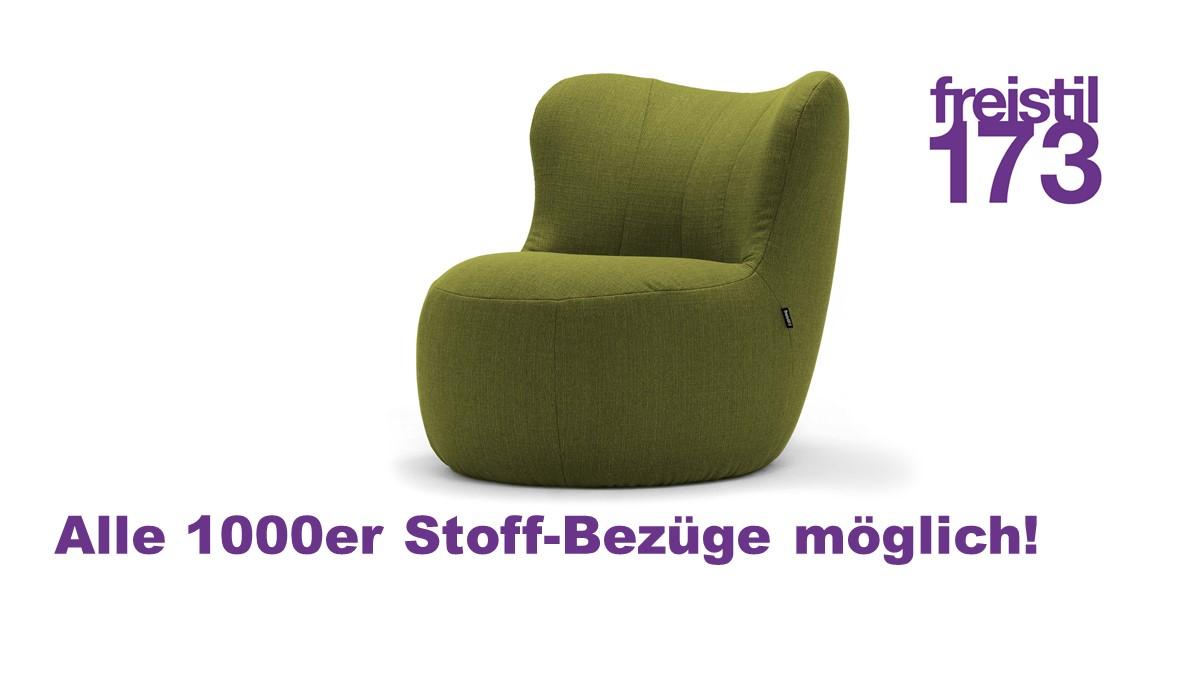 freistil 173 Sessel in allen freistil 1000er Stoff-Bezügen erhältlich