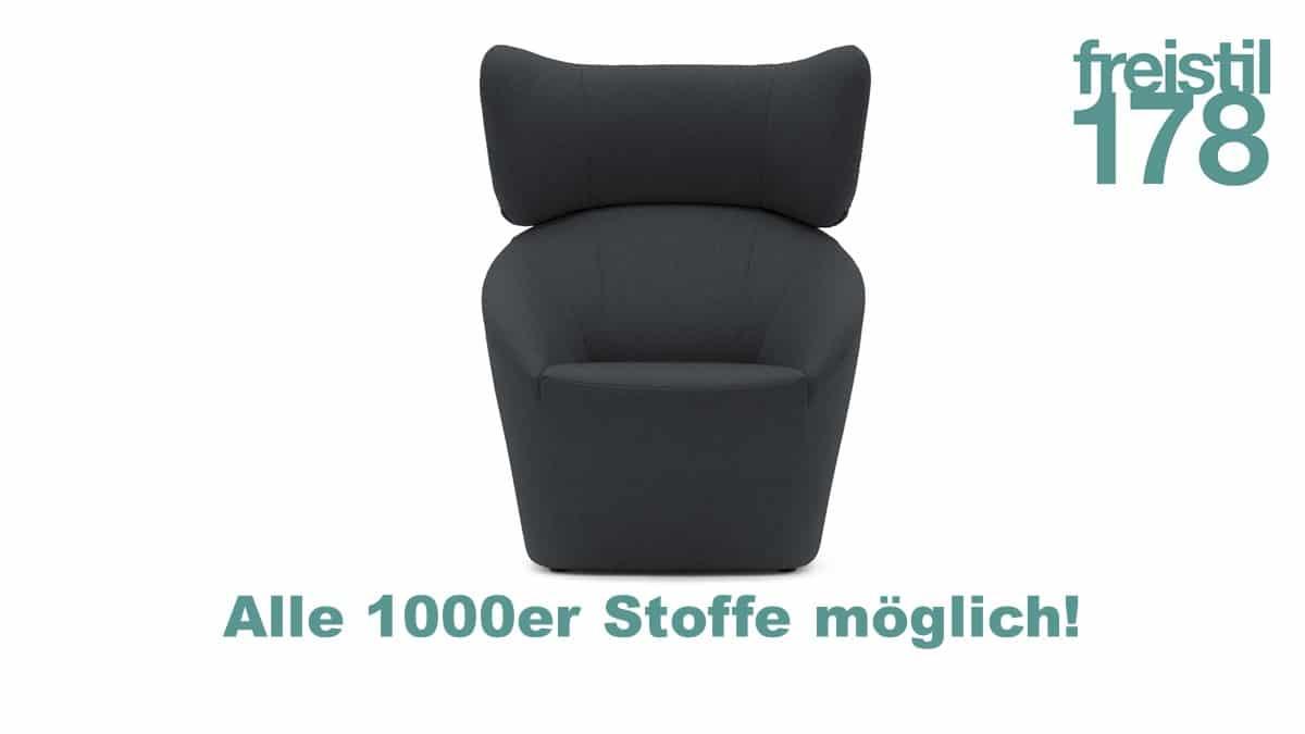 freistil 178 Sessel in allen 1000er Stoffen