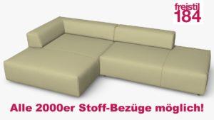 freistil 184 Sofa mit Longchair links Alle 2000er Stoff-Bezüge möglich