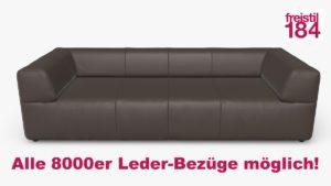 freistil 184 Sofabank Alle 8000er Leder-Bezüge möglich