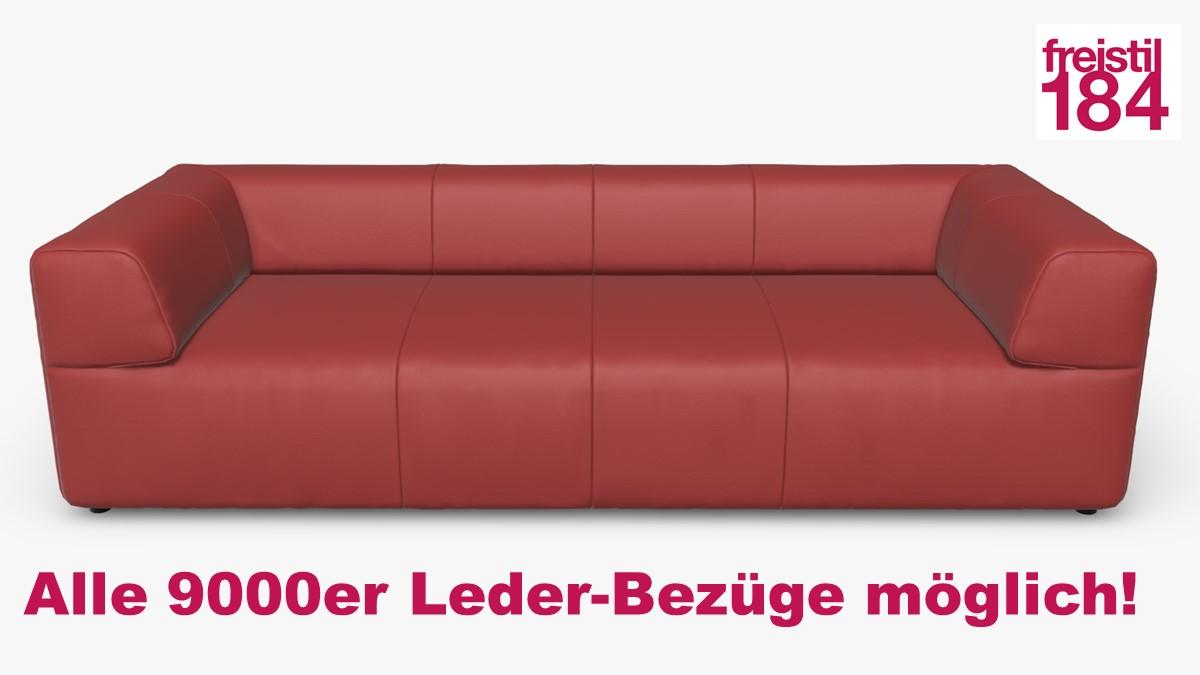 freistil 184 Sofabank Alle 9000er Leder-Bezüge möglich