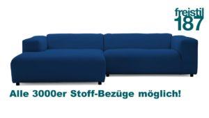 freistil 187 Kombination Sofa mit Longchair links jetzt in allen 3000er Stoffen konfigurierbar