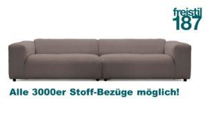 freistil 187 ROLF BENZ Sofa in Stoff in allen 3000er Stoffen konfigurierbar