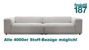 freistil 187 ROLF BENZ Sofa in allen 4000er Stoffen konfigurierbar