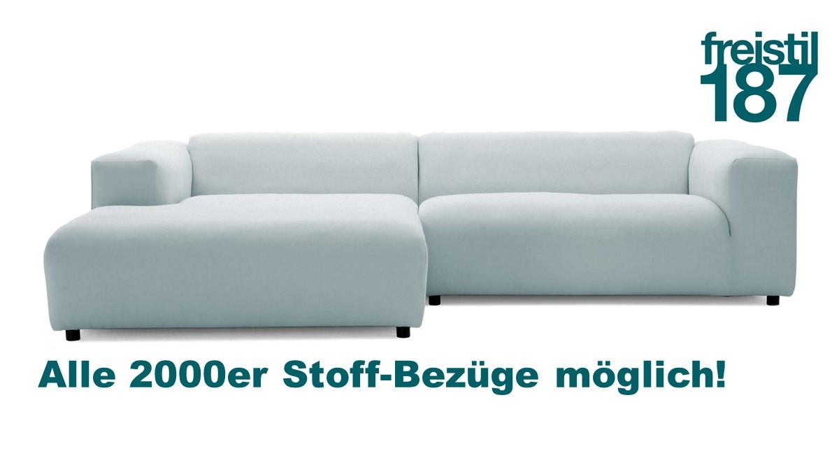 freistil 187 ROLF BENZ Sofa mit Longchair links, jetzt in allen 2000er Stoffen konfigurierbar