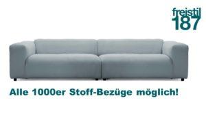 freistil 187 Sofa in allen 1000er Stoffen konfigurierbar