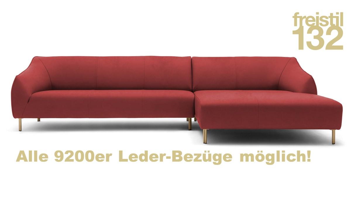 freistil132 Sofa mit Longchair rechts im 9200er Leder