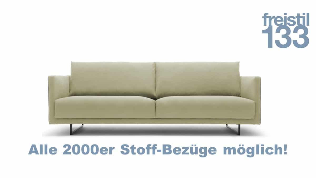 freistil133 Sofa in der Breite 222 cm in allen 2000er Stoffen
