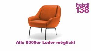 freistil138 Sessel in allen 9000er Leder-Varianten erhältlich