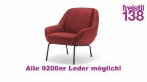 freistil138 Sessel in allen 9200 Ledern erhältlich