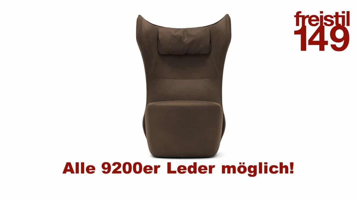 freistil149 Sessel in allen 9200er Ledern konfigurierbar